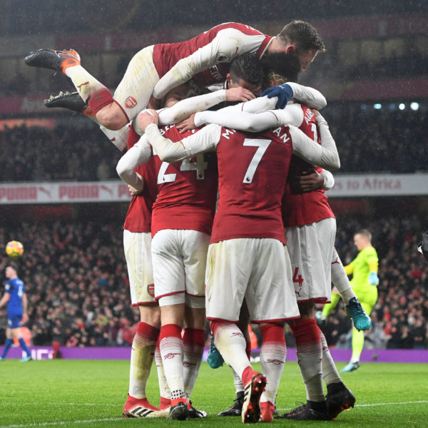 LONDON, ENGLAND - FEBRUARY 03: of Arsenal during the Premier League match between Arsenal and Everton at Emirates Stadium on February 3, 2018 in London, England. (Photo by Stuart MacFarlane/Arsenal FC via Getty Images)